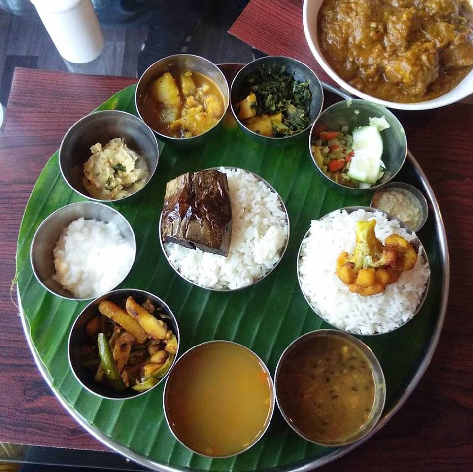 Masoor tenga and Assamese thali