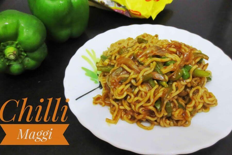 Spicy Green Chilly Maggi