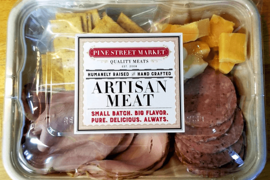 Summer Sausage, Cheese And Crackers
