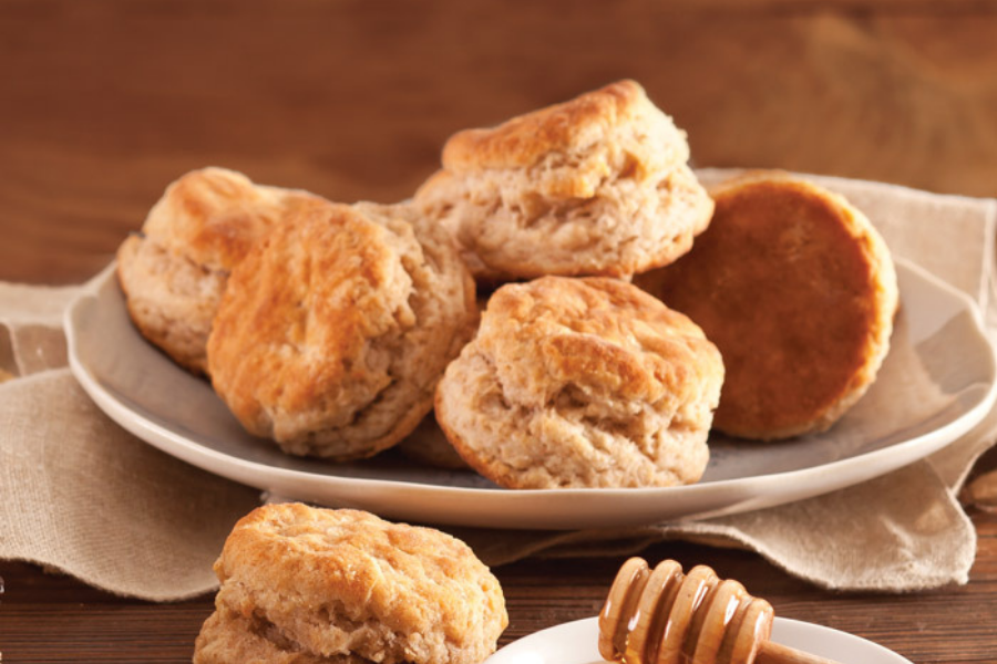 whole-wheat biscuits.