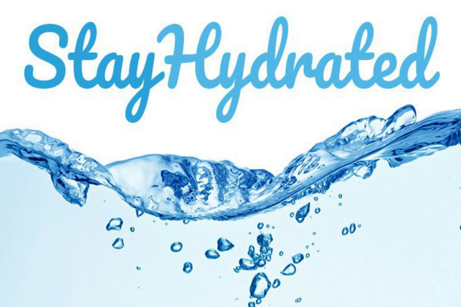 Stay hydrated to stay fit.